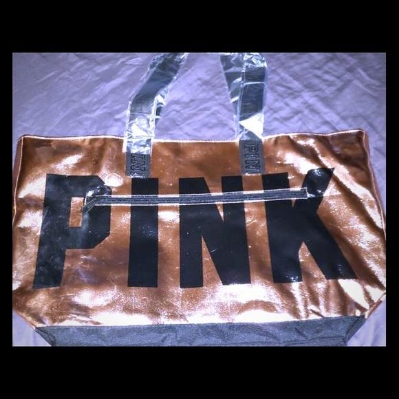 PINK Victoria's Secret Handbags - Rose Gold limited edition Victoria Secret Bag